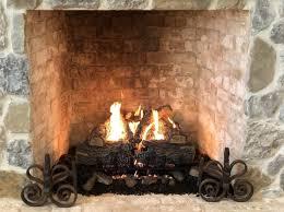 installing a gas log fireplace a step