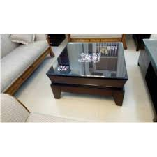 rectangular glass top and wooden center