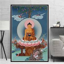 Sakyamuni And Arhat Thangka Tibet Buddhism Buddha Poster Wall Art Picture Posters And Prints Canvas Painting For Room Home Decor Painting Calligraphy Aliexpress