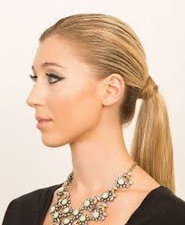 the quick s back low pony makeup