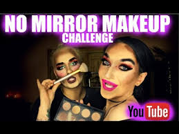 no mirror makeup challenge with