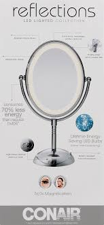 incandescent lighted makeup mirror