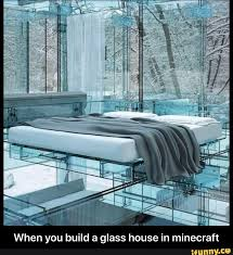 build a glass house in minecraft