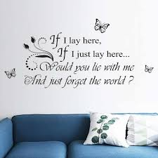 Nai Yue If I Lay Here Decals Word Decal Family Vinyl Wall Sticker Quotes Lettering Words Living Room Decorative Decor 3 8 Wall Stickers Aliexpress