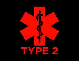 Diabetes Type 2 Vinyl Window Decal Red 5x6 Medical Alert Blood Sugar Diabetic Ebay