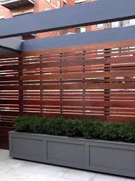 Hardwood Horizontal Fence Privacy Fence Designs Modern Front Yard Wood Fence Design