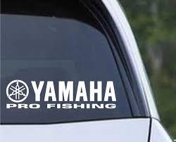 Yamaha Pro Fishing Boat Die Cut Vinyl Decal Sticker Texas Die Cuts