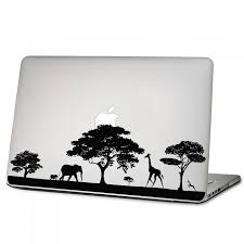Safari Africa Wildlife Laptop Macbook Vinyl Decal Sticker