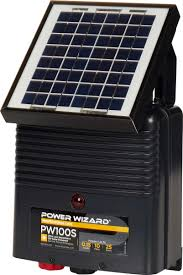 Power Wizard Pw100s Solar Electric Fence Charger Agratronix Chargers Electric Fencing