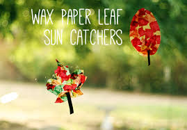 wax paper leaf sun catchers make and