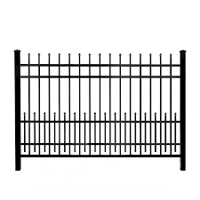 Mainstreet Aluminum Fence 3 4 In X 1 5 Ft X 6 Ft Black Aluminum Fence Puppy Guard Add On Panel 77331993 The Home Depot