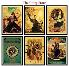 Bioshock Retro Poster Home Furnishing Decoration Kraft Game Poster Drawing Painting Wall Stickers 42x30cm Wish