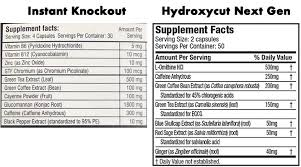 instant knockout vs hydroxycut next gen