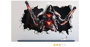 Amazon Com Overwatch Wall Decal Smashed 3d Sticker Vinyl Decor Mural Games Broken Wall 3d Designs Ls139 Large Wide 40 X 24 Height Home Kitchen