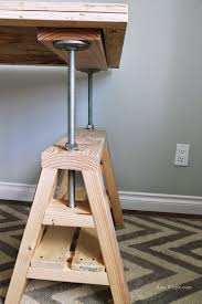 adjustable height table diy furniture