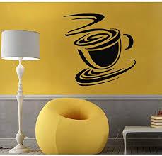 Amazon Com Fsds Wall Vinyl Decal Decals Decal Sticker Art Mural Kitchen Decor Tea Mug Coffee Cup Home Kitchen