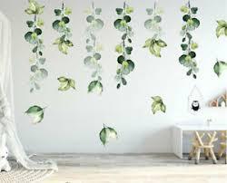 Green Foliage Leaves Botanical Wall Sticker Nursery Decor Decal Art Mural Gift