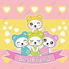 خلفيات و خلفيات لطيف فتاة الباندا الملونة الحب خلفية الرسوم