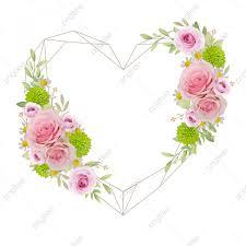 خلفية جميلة إطار الحب مع الورود الوردي الزهور 3d الذكرى الخريف