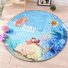 Toy Storage Bag Underwater World Baby Crawling Mats Round Rugs For Children Room At Yunbabby Com