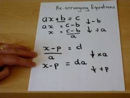 rearranging equations gcse maths