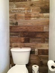 How To Make A Fence Picket Wall Diy Bathroom Makeover Bathroom Wall Decor Fence Pickets