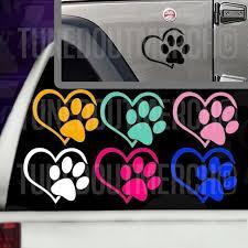 Heart Paw Dog Cat Love Animals Pet Bl Rhinestone Bling Car Decal Sticker 51 19 For Sale Online Ebay