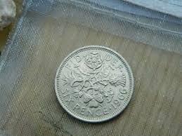 wedding sixpence wedding 6 pence coin
