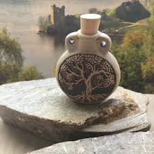 aromatherapy raku oil bottle pendant
