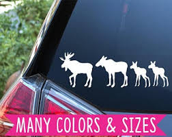 Moose Family Decal Etsy