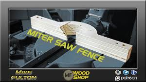 Make A New Miter Saw Fence Youtube