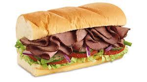 menu roast beef subway