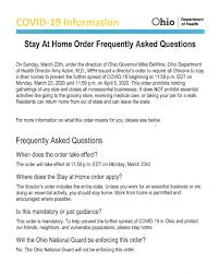 """OHIO ISSUES """"STAY AT HOME"""" ORDER ..."""