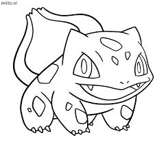 Kleurplaat Pokemon Bulbasaur De Mooiste Kleurplaten Milito Nl