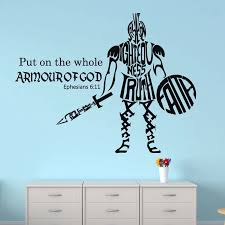 Christian Wall Decal Vinyl Sticker Put On The Whole Armor Of God Bible Verse Vinyl Scripture For Boy S Bedroom Decoration Z347 Wall Stickers Aliexpress