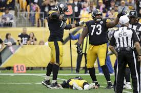 Pittsburgh Steelers offensive guards Ramon Foster (73) and ...