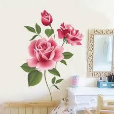 ملصقات حائط رومانسية على شكل زهرة ورد لديكور المنزل وغرفة المعيشة