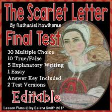 The Scarlet Letter Test by Selena Smith | Teachers Pay Teachers