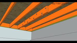 cut or damaged floor joist bolting