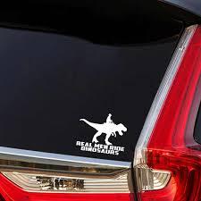 Yjzt 15 5cm 12 7cm Fashion Real Men Ride Dinosaurs Car Sticker Decal Black Silver Vinyl Graphical C11 1428 Car Stickers Aliexpress