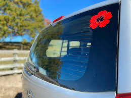 Personalise It As Promised Here S The Poppy Car Decal Facebook