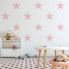 12 Star Wall Decals 9 Star Decals Pink Navy Black White Fabric Decals