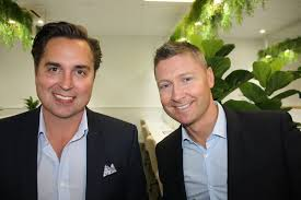 Adrian Reed and Michael Clarke at the official opening of ... | Buy Photos  Online | Noosa News