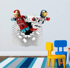Lego Iron Man Wall Decal Great For The Kids Room Lego Iron Man Wall Decals Kids Room