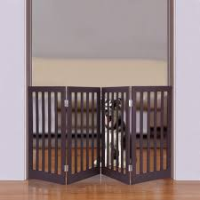 Standing Folding Indoor Pet Dog Gate Stairs Puppy Gate Step Over Safety Fence Walmart Com Walmart Com