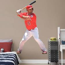 Los Angeles Angels Albert Pujols Fathead Batting Life Size Removable Wall Decal