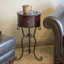 gold metal tray end side accent table