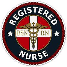 Amazon Com Bsn Np Registered Nurse Rn Caduceus Emblem Seal Vinyl Decal Bumper Sticker 5 X 5 Inches Kitchen Dining