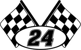 Amazon Com Checkered Flag Racing Number 24 Graphic Car Truck Window Decal Sticker Die Cut Vinyl Decal For Windows Cars Trucks Tool Boxes Laptops Macbook Virtually Any Hard Smooth Surface Arts
