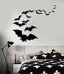 Vinyl Wall Decal Flock Of Bats Halloween Animals Stickers 1892ig Ebay